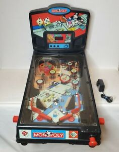 VTG 2000 HASBRO Tabletop MONOPOLY Pinball Machine Hasbro Rare Tested