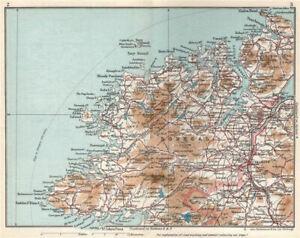 DONEGAL. Vintage county map plan. Ireland Ulster 1962 old vintage chart