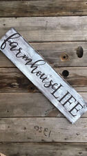 Handmade farmhouse fixer upper style decor rustic wood sign anniversary mother's