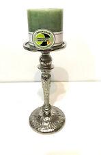 Rough Nickel Pillar Candle Holder (A)