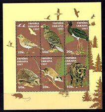 Ukraine birds 1997 souvenir sheet MNH