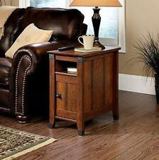 Side Table Drawer Living Room Furniture Wood Shelf Storage Mission Style End