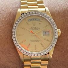 ROLEX DAY-DATE PRESIDENT 18038 VINTAGE 18KT YELLOW GOLD WATCH 100% GENUINE BOX