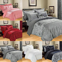 Crushed Velvet Duvet Quilted Cover Bedding Set with 2 Pillow Case Double King UK