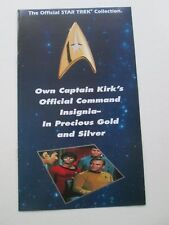 Star Trek Brochure/sell sheet for Insignia collection