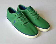 POLO RALPH LAUREN Mens Unisex Deck Shoes Pumps green White UK Sz 7 Canvas Rubber