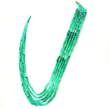 DG 513.00 Cts Earth Mined Green Garnet Round Shape Faceted Beads Necklace