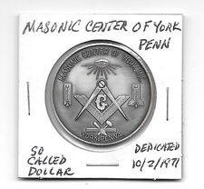So Called Dollar 1974 Bu Masonic Center of York Penn