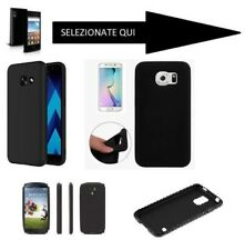 Custodia Cover SILICONE NERA per SAMSUNG GALAXY S3 S4 NOTE ACE WAVE S W MINI 1 2