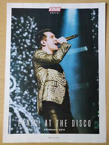 Panic! At The Disco / Brendon Urie - Kerrang Poster - RARE