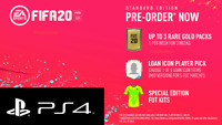 FIFA 20 (PS4) Pre-Order DLC - 3 Gold Packs, Loan Icon Player Bonus Content!