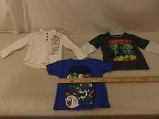 3 Youth Boys XS 4-5 Y XSmall T-Shirts Super Mario Brothers Tony Hawk & Est. 1989