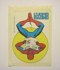 VECCHIO ADESIVO ORIGINALE / Old Sticker Vintage UOMO RAGNO SPIDERMAN (cm 10x14)