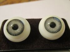 22 mm Gray Vintage Glasaugen Glass Eyes 13.5 mm Iris W. Germany Doll Mannequin