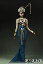 Custom 1/6 Peacock Queen Suit Set For Phicen Female Big Bust Body NEW