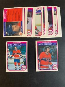 1982/83 OPC O-Pee-Chee Montreal Canadiens Team Set 21 Cards