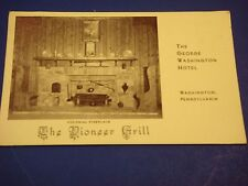 Pioneer Grill George Washington Hotel PA Fireplace Vintage Colorful Postcard PC6
