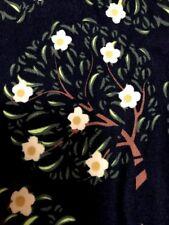 Lularoe TC Leggings NEW Black W/ Yellow Magnolia Trees