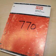 Case 770 Agri King Tractor Parts Manual Book Catalog Spare Wheel Farm List 1974