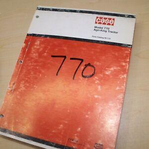 CUSTODIA 770 AGRI-KING Tractor Parts Manual book catalog spare wheel farm list