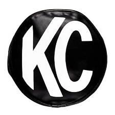 "KC Hilites Replacement 6"" Vinyl Lamp Light/Spotlight Cover -Pair- Black Original"