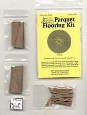 PQ110W Parquet Walnut Wood Flooring Kit  dollhouse 1/12 scale by Brodnax Prints