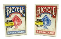 Bicycle Standard Playing Cards #808 Poker Cards 2 Decks 1 Blue, 1 Red Brand New