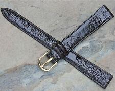 Genuine Ostrich leg watch band 13mm Swiss Made vintage watch strap by Torneau