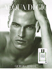 PUBLICITE  ADVERTISING ADVERTISING 054  2008   ARMANI  parfum homme ACQUA