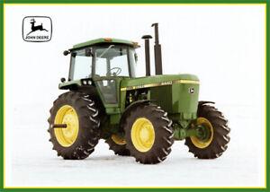 Vintage John Deere 4440 Tractor Poster Brochure Print Art RARE A3