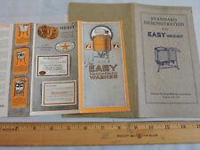 1925 Easy Washer Syracuse Vacuum Electric Washing Machine Brochure + 24-p Manual