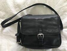 OSGOODE MARLEY Black Leather Organizer Crossbody Purse Bag-MINT