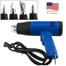 Heat Gun Hot Air Gun Dual Temperature + 4 Nozzles Power Tool For SofteningPaint
