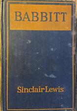 BABBITT *by Sinclair Lewis * 1st Edition  * 1922 HC ~ No DJ