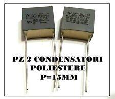 10pz Condensatore 330nF 330000pF 330KpF 63V Poliestere Metallizzato Passo 5mm