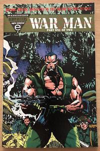 1993 War Man #1 Trading Card Attached, Sharp Cover, Dixon & Zanotto, Mid-Grade