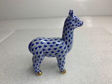 Herend Alpaca Figurine Sapphire Fishnet 16004