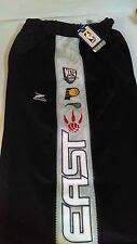 NBA East Conference Multi Colored Panel Pants Large Black/White