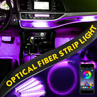 LED Car Interior Ambient  Decor Atmosphere Optical Fiber Lamp Door