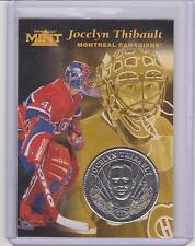 RARE 1996-97 PINNACLE MINT JOCELYN THIBAULT SILVER / NICKEL COIN & CARD #27
