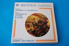 "SCHUBERT"" Sinfonia n° 8 "" Incompiuta""/ Brahms, Variazioni su un tema di HAYDN"","