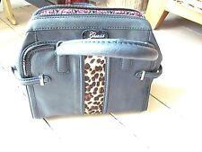Guess  leopared trim black hand bag  m