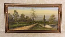 Pastel Painting Dirt Lane Pastural Landscape Attrib to Walter Ashbaugh School