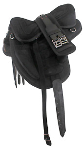 """D.A. Brand 15"""" Black English Synthetic Treeless Saddle w/ Girth Horse Tack"""