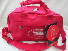 RYANAIR 2ND SIZE CARRY ON BAG [  PLAIN RED ] -BOARDING BAG/ SMALL HOLDALL