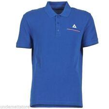 Polo T-shirt Maglietta Uomo le Coq Sportif Tricolores Pavot Blu Cobalto Tag. S