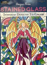 Kappa ~ Stained Glass Adult Coloring Book ~ Designer Series ~ Angel ~ New