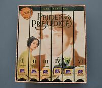 VHS Movies - Pride and Prejudice ( Mini-Series) (1996, 6-Tape Set) Colin Firth