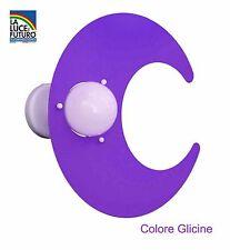 Plafoniera Colore Glicine Modello Luna per Camerette Bambini