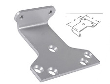 LCN 62PA - DOOR CLOSER PARALLEL ARM BRACKET, 689 aluminum For 4040, 4040xp, 1460